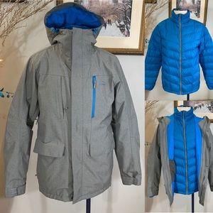 Men's LL Bean Down Sweater 3-in-1 Jacket Sz M REG.